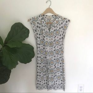LOFT Button Front Polka Dot, Floral Shirt Dress!